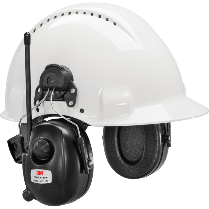 3M Peltor DAB+ FM Radio Hörselskydd med hjälmfäste