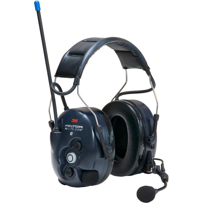3M Peltor WS Lite-Com Hörselskydd med komradio Bluetooth med hjässbygel