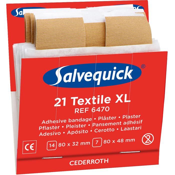 Salvequick 6470 Textilplåster XL 6x21st
