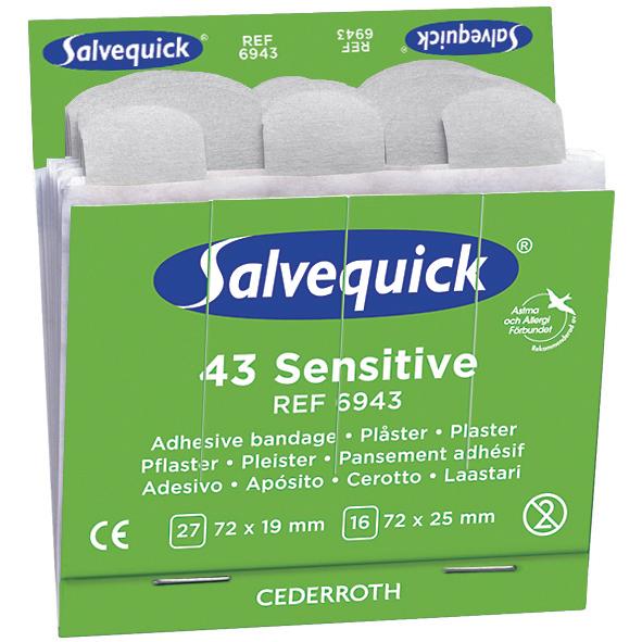 Salvequick 6943 Sensitive Plåster 6x43st