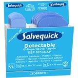 Salvequick 6754CAP Blue Detectable plaster