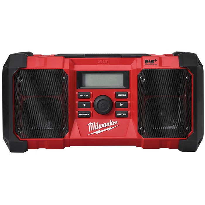 Milwaukee M18 JSR DAB+-0 Radio utan batterier och laddare