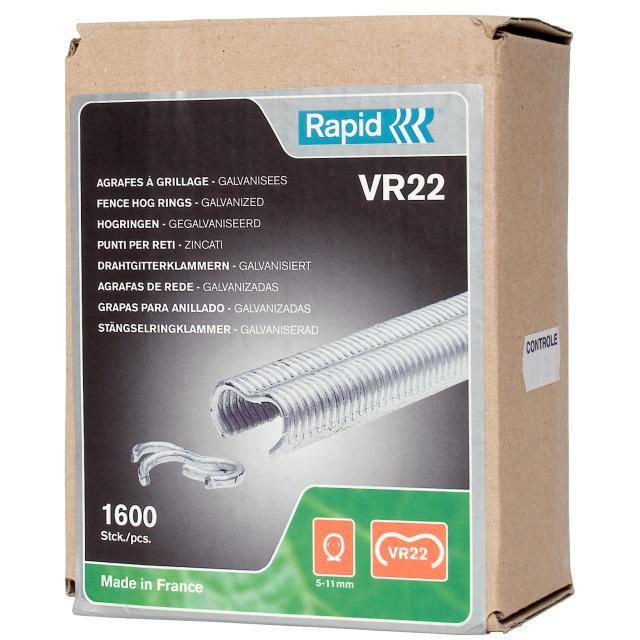 Rapid VR22 Ringklammer silver 1600-pack