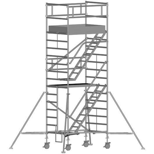 Zarges Z600 Trappställning 135x250x440 meter