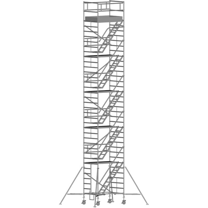 Zarges Z600 Trappställning 135x180x1030 meter
