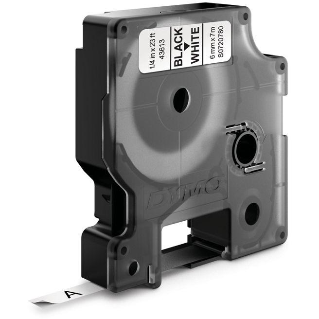 DYMO Standard D1 Tejp 6mm Svart på vitt