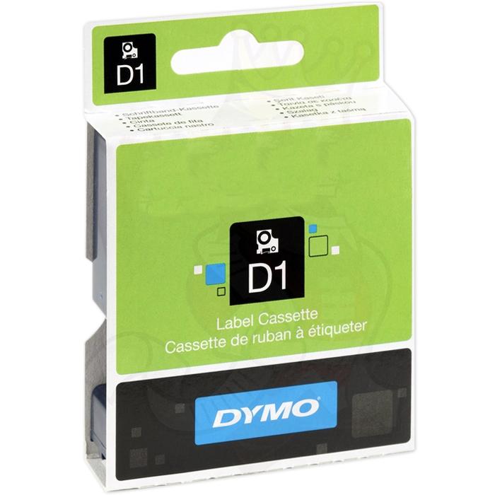 DYMO Standard D1 Tejp 12mm Rött på vitt