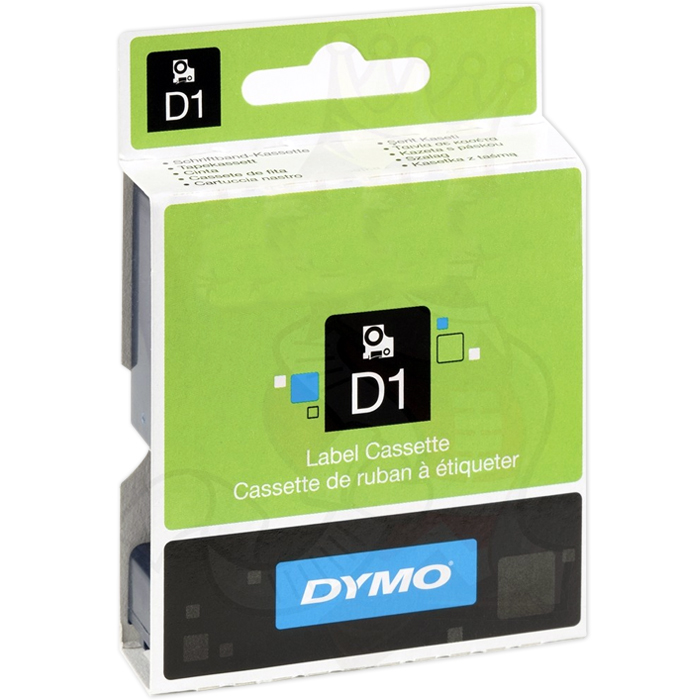 DYMO Standard D1 Tejp 19mm Vitt på transparent