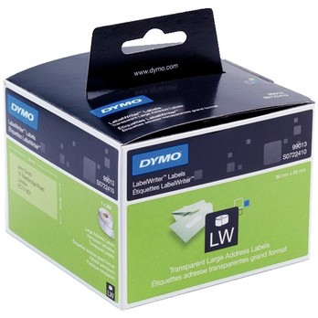 DYMO LW Adressetikett 36x89mm Transparent
